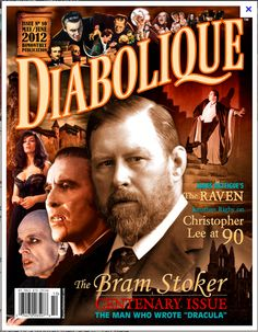 Diabolique Magazine No. 10 (May/Jun Diabolique Magazine celebrates the Bram Stoker Centenary! Ken Russell, Newest Horror Movies, Film Poster Design, Hammer Films, Bram Stoker, Horror Icons, Gothic Horror, Team S, Alfred Hitchcock