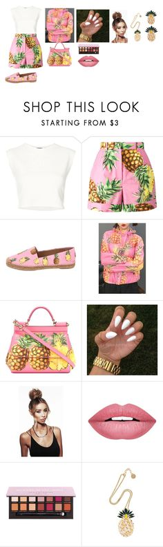 """pineapple party"" by auriana-arista-van-loon on Polyvore featuring mode, Puma, Dolce&Gabbana, WithChic, Forever 21 en Anton Heunis"