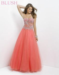 b7998bfc5e Shop Unique Prom Dress Strapless Beaded Bodice Floor Length Pick Up Tulle  Skirt With Cut Edge Online affordable for each occasion. Latest design party  ...