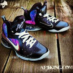 Custom Nike LeBron 9 Galaxy Foamposite