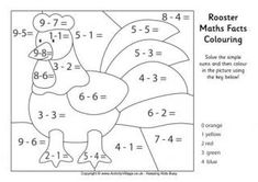 What would a farmyard be without a rooster to wake everyone up in the morning? We've got a collection of rooster colouring pages for the kids to enjoy - more coming soon. Language Activities, Math Activities, Subtraction Kindergarten, Math Pages, Math Work, Facts For Kids, Basic Math, Worksheets For Kids, Colouring Pages