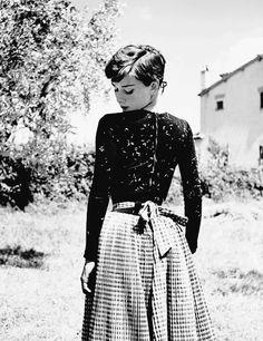 Audrey Hepburn photographed by Philippe Halsman, 1954.