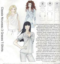 Hot Patterns Sewing Pattern HP 1089 Womens 3 Graces by CloesCloset