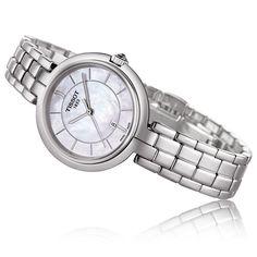 2862883305ad Tissot Flamingo Women S Quartz Mop White Dial Stainless Steel Bracelet Watch