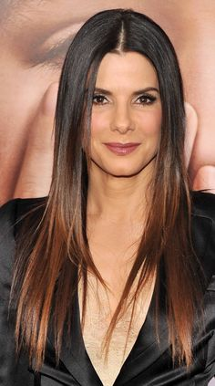 sandra bullock ombre hair coloration tie and dye - Tie And Dye Coloration Maison