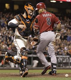 8dfdf82f9 San Francisco Giants catcher Buster Posey, left, chases a pitch from Tim  Lincecum that got away from him behind Arizona Diamondbacks Gerardo Parra  in the ...
