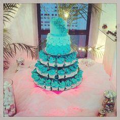Torta de petalos con cupackes!! #cake #weddingcake #cupcake #flowers #fondant #Padgram