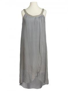 Damen Seidenkleid, grau von Montan bei www.meinkleidchen.de