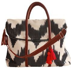 Ikat Matea Weekender from Mercado Global. http://www.mercadoglobal.org/collections/accessories/products/ikat-matea-weekender