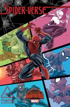 Marvel Secret Wars Cover, Featuring: Spider-Man, Spider-Gwen, Spider-Man Noir and More Marvel Comics Poster - 30 x 46 cm Marvel Comics, Ms Marvel, Comics Spiderman, Marvel Heroes, Batman, Comic Book Characters, Marvel Characters, Comic Character, Comic Books Art