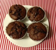Nigella's Chocolate Chip Muffins in the Thermomix 175g raw sugar 250g plain flour 2 teaspoons baking powder 1/2 teaspoon bicarbonate of soda 2 tablespoons good quality cocoa powder 150g dark chocolate chips, plus a few extra for sprinkling 250g milk 90g vegetable oil 1 egg 1 teaspoon pure vanilla extract