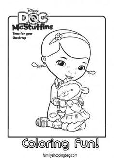 Lambie the Lamb in Doc McStuffins Coloring Page - NetArt | kenzies ...