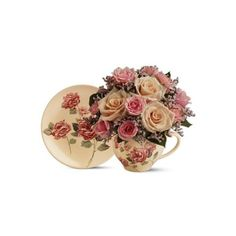 Telefloras-Victorian-Teacup-Bouquet-08M4003995Florist-i-normal.png ❤ liked on Polyvore featuring flowers