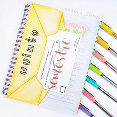 Bullet Journal School, Information Technology, Notebook, Notes, Study, Letters, Kawaii, School, Creative Notebooks