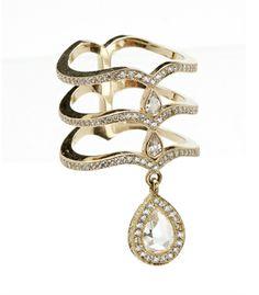 Tiered diamond ring