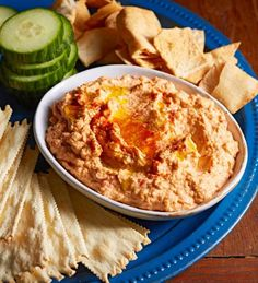 Roasted Red Pepper-Chipotle Hummus: Hummus is easier than you might think!