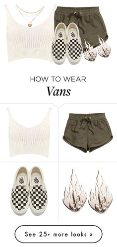 """""""Untitled #1415"""" by jasloves5sos on Polyvore featuring H&M, Boohoo, Vans and Ring of Fire"""