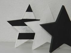 Black and white stars by TheSeasideCompany on Etsy, $21.00