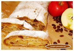 Saftiger, glutenfreier Apfelstrudel! Ein köstlicher Genuss! www.rezepte-glutenfrei.de #sweetmasterpieces