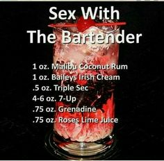 Cocktail recipe Sex With The Bartender