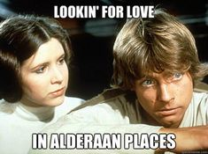Luke and Leia. Couldn't get any more awkward.