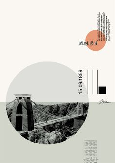 Architecture Portfolio Discover Malcolm Turner From a series of posters based on Bristol cityscapes by Malcolm Turner Suspension Bridge 1 Web Design, Game Design, Book Design, Layout Design, Print Design, Design Trends, Graphic Design Posters, Graphic Design Inspiration, Typography Design