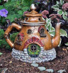 A fairy house teapot!  Love it!