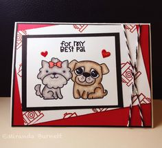 Woofs & Tweeters - Paper Smooches card.
