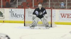 GIF: Iowa Wild Goalie is Really Glad He Has a Good Mask | FatManWriting