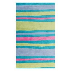 Surya Abigail Rectangular Multicolor Stripe Woven Polyester Area Rug (Common: 5-Ft x 8-Ft; Actual: 60-in x 96-in)