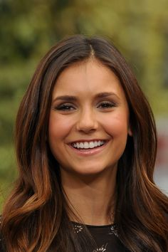 Nina Dobrev - makeup | Extra at The Grove | September 27, 2012