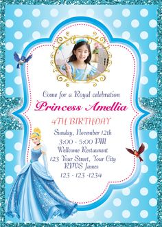 Princess Cinderella Invitation Birthday Party by AngelWings2015