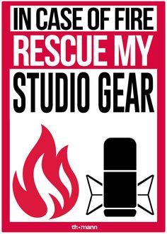 In case of  rescue my studio gear! #studio #recording #music #fire #fun #meme #music