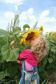 Serenity One Wise Life - Fotos Precious Children, Beautiful Children, Beautiful People, Sunflowers And Daisies, Happy Flowers, Sun Flowers, Sunflower Fields, Little People, Country Girls
