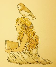 mormoc: Doodle. Little golden Anna with owl. And Rachel. I always portrait her as a humorous girl!