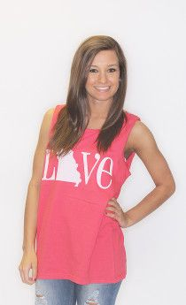 love missouri comfort colors tank - $28 on www.shopriffraff.com/state-love Exclusive Riffraff Copyrighted Tees. Flaunt your state love in our state love tees!