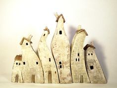 miniature ceramic houses:  Vesna Gusman