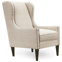 With ultra-low armrests, the Homeware Lincoln Wingback Chair gives the classic wingback chair a fun new form that's less stuffy and more fabulous. Living Room Sofa Design, Accent Chairs For Living Room, Living Room Furniture, Sofa Upholstery, Upholstered Chairs, Wingback Chair, Bed Headboard Design, Headboards For Beds, Poltrona Vintage