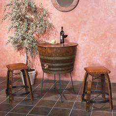 Reclaimed Barrel Furnishings, Bistro Table, Wine Cabinet, Sideboard, Bistro Cooler