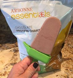 Arbonne Chocolate Popsicle Ingredients: 1 cup unsweetened vanilla almond or coconut milk 2 scoops Arbonne Chocolate protein (adjust scoops based on your chocolate tooth) 2 tablespoons almond butter (optional) Instructions: Blend all ingredients. Pour mixture into Popsicle Molds leaving about 1/2 inch room (as the mixture expands it will expand). Freeze for at least four hours. To serve, dip the bottoms of the molds in hot water for a few seconds so the pops slide out. staceyguy.arbonne.c...