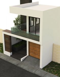 You can turn your house into a very nice place. House Front Design, Small House Design, Modern House Design, Architecture Model Making, Modern Architecture, Townhouse Designs, Narrow House, House Elevation, Sims House