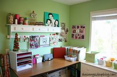 My craft/scrapbook desk will be this organized and cute one day.  lol