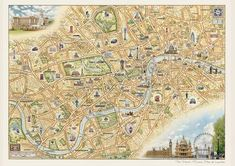 The Hand Drawn Map of London (Sheet map, rolled)