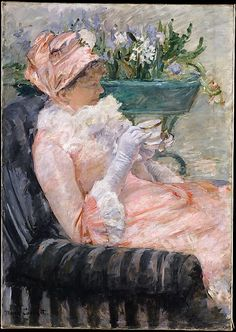 {The Cup of Tea} painting by Mary Cassatt, 1880-81