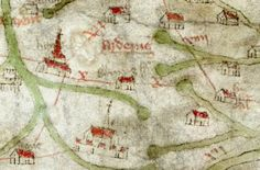 the Gough map, c.1375 shows the forest of Arden, with Birmingham between Droitwich and Lichfield --> ceremony map like a medieval map!