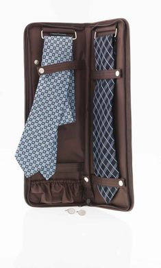 You don't need a separate leather bag for your travelling ties, you're not a woman.