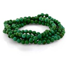 "6mm Green Simulated Turquoise Howlite Strand Beaded 44""Long Bracelet... ($9.99) ❤ liked on Polyvore featuring jewelry, necklaces, green pendant necklace, turquoise jewelry, strand necklace, turquoise pendant and long pendant necklace"