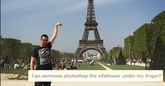 This poor guy got hilariously trolled for asking strangers to Photoshop the Eiffel Tower.
