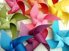 Pinwheels YOU PICK the COLORS set of 8 Large by PaperPolaroid, $25.00