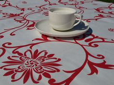 Tablecloth in damask style by Dreamzzzzz on Etsy